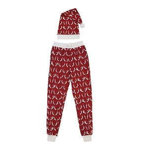 Organic Men's Holiday Joggers & Cap Set Oh Deer!