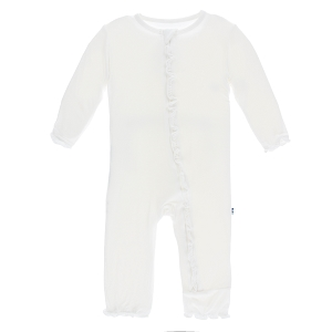 KicKee Pants Basic Muffin Ruffle Coverall in Natural