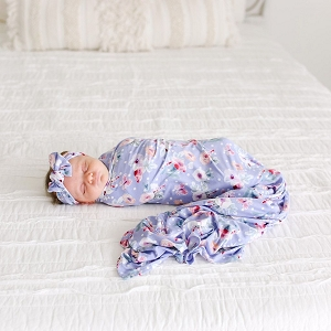 Posh Peanut Samantha Swaddle & Headband Set