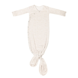 Oat Newborn Knotted Gown