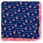 Kickee Pants Ruffle Toddler Blanket - Pink Lemonade