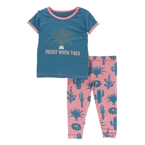 Kickee Pants Print Pajama Set - Strawberry Cactus