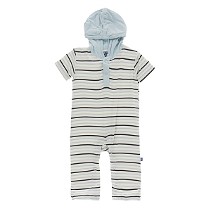 KicKee Pants Short Sleeve Hoodie Romper - Tuscan Afternoon Stripe