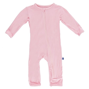 Kickee Pants Basic Coverall with Zipper - Lotus