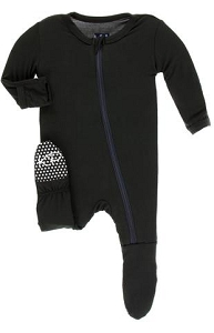 Kickee Pants Solid Footie with Zipper - Midnight