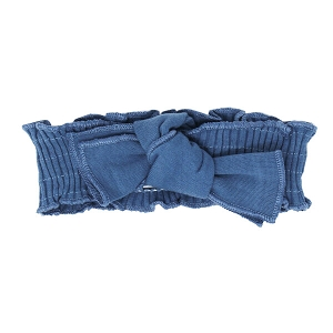 Sky Smocked Tied Headband