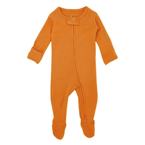 Organic Long Sleeve Footed Overall - Butternut