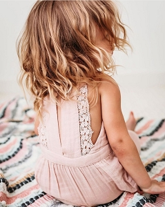 PNW Baby Lace Back Dress - Peach Blossom