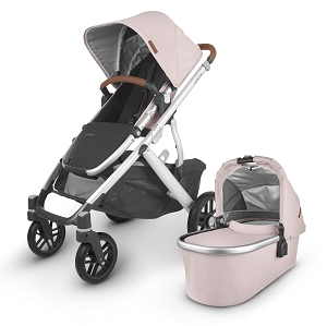 2020 UPPAbaby Vista V2 Stroller - Alice (Dusty Pink/Silver/Saddle Leather)