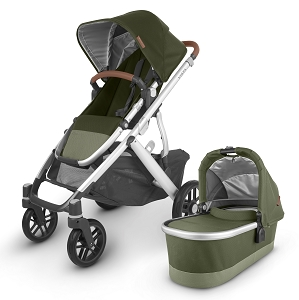 2020 UPPAbaby Vista V2 Stroller - Hazel (Olive Green/Silver/Saddle Leather)