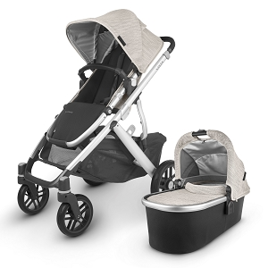 2020 UPPAbaby Vista V2 Stroller - Sierra (Dune Knit/Silver/Black Leather)