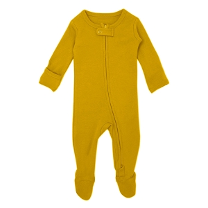 Organic Long Sleeve Footed Overall - Citrine