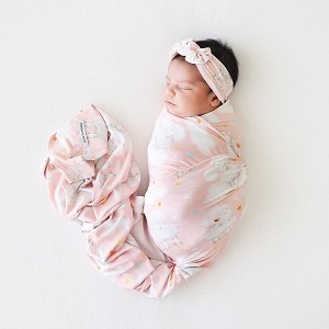 Posh Peanut Mary Swaddle & Headband Set