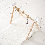 Natural Wood Activity Gym - White