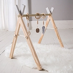 Natural Wood Activity Gym - Stone Grey