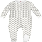 Magnificent Baby Footie - Pompidou Grey