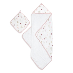 Hooded Towel & Washcloth Set -Heart Breaker