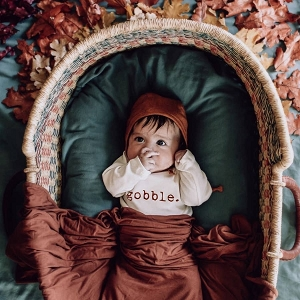 Gobble Organic Long Sleeve Onesie