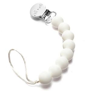 Pacifier Clip - White