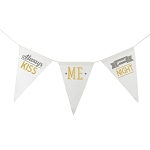 Always Kiss Me Goodnight Canvas Banner - Gold & Grey