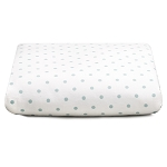 Liz and Roo Mini Dots Crib Sheet - Aqua