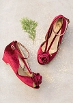 Joyfolie Arabella Kitten Heel in Cranberry