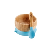 Bamboo Suction Bowl & Spoon Set