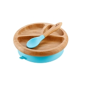 Bamboo Suction Plate & Spoon Set