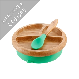 Bamboo Baby Suction Plate & Spoon Set