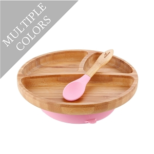 Bamboo Suction Toddler Plate & Spoon Set