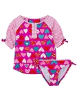 Hatley Rash Guard Set - Crazy Hearts