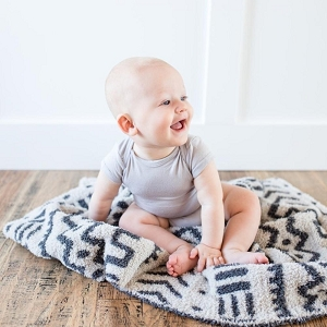 Saranoni Double Layer Bamboni Blanket - Mudcloth