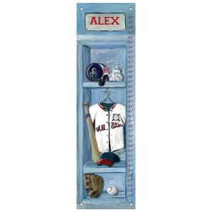 Baseball Locker Oopsy Daisy Growth Chart