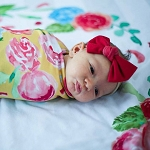 Swaddle Blanket - Yellow Painted Peony