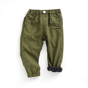 Fleece Lined Jogger Pants - Olive