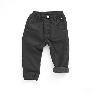 Fleece Lined Jogger Pants - Black
