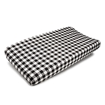 Liz and Roo Contoured Changing Pad Cover - Black Plaid
