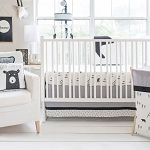 Little Black Bear Crib Bedding Set