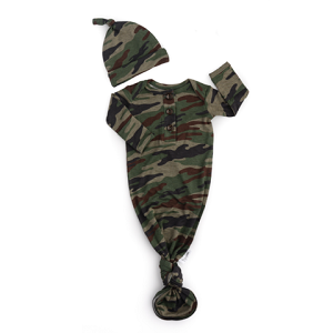 Knotted Gown & Hat  - Army