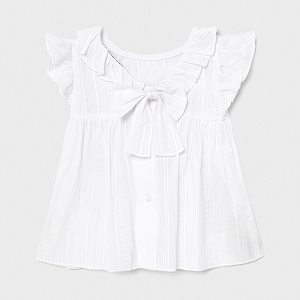 Mayoral White Bow Blouse