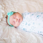 Swaddle Blanket - Blue Fairy Floral