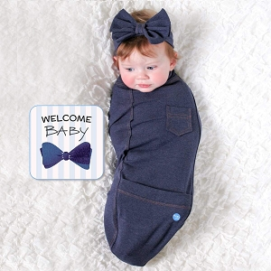 Blue Jean Baby Bunting Set