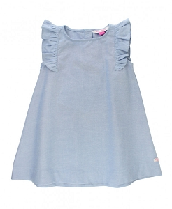 RuffleButts Blue Chambray Jumper Dress
