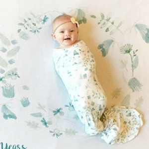 Memory Blanket - Blue Fairy Floral