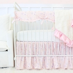 Caden Lane Blush Lilac and Gold Sparkle Baby Bedding