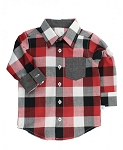 RuggedButts Plaid Button Down - Red & Black