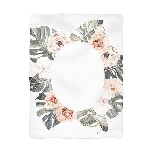 Tropical Boho Floral Oval Blanket