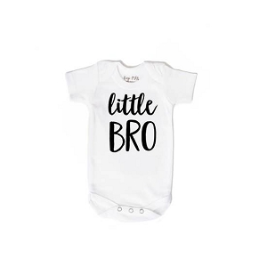 Little Bro Onesie - White