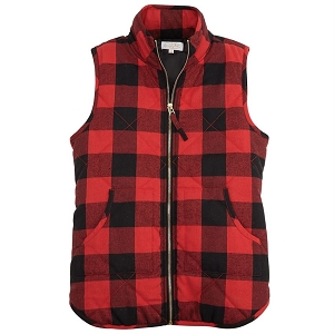 Women's Buffalo Check Quilted Vest