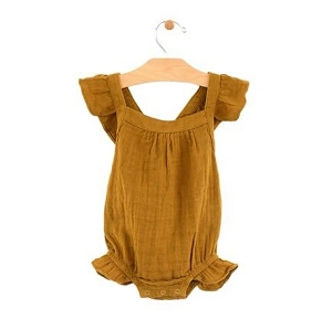 Muslin Bubble Romper - Bronze